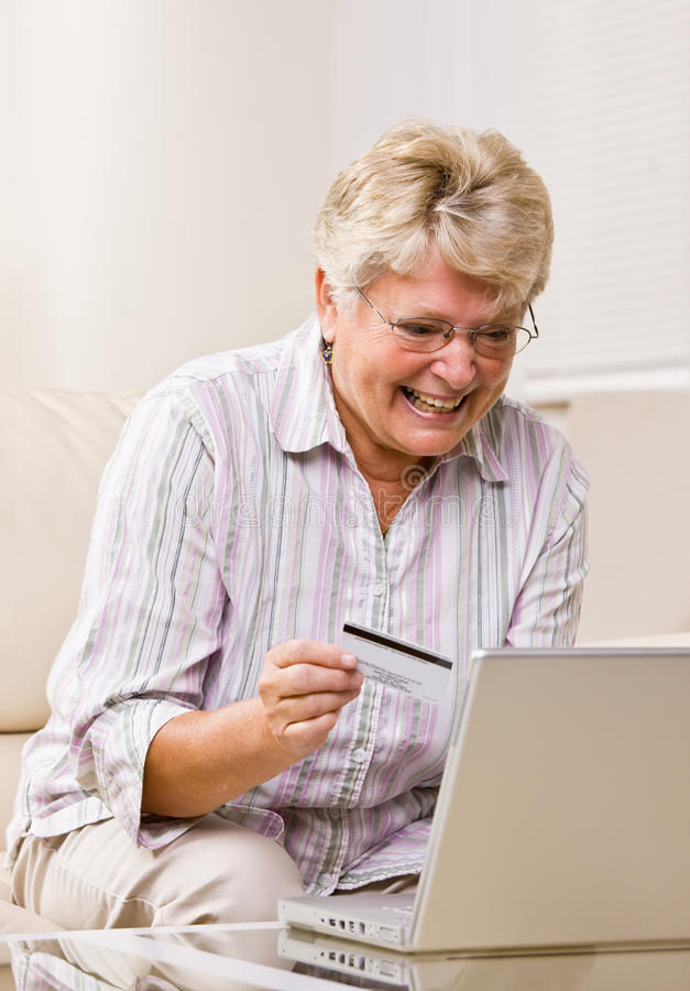 Download Woman Using Creditcard To Buy Internet Merchandise Stock Image - Image: 17049607