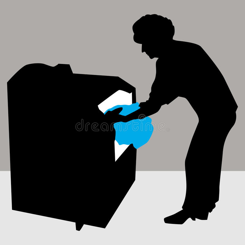 Download Woman Using Dryer Machine stock vector. Illustration of cleaning - 23689712