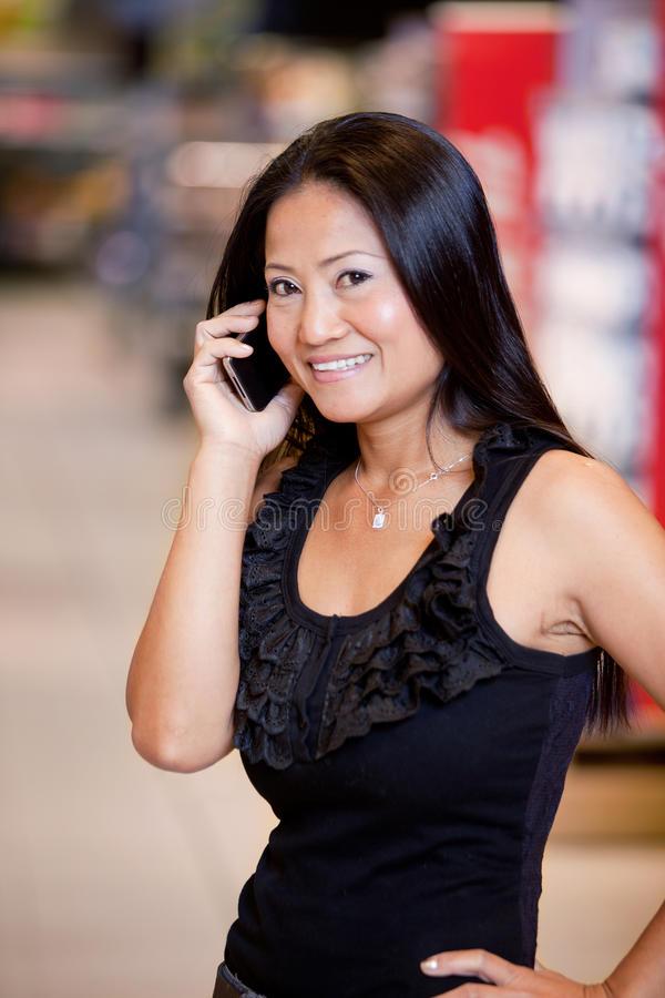 Download Woman Using Mobile Phone stock photo. Image of casual - 19715430