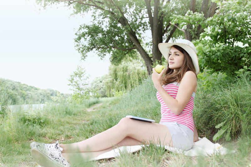 Download Woman on vacation stock photo. Image of activity, outdoors - 34922184