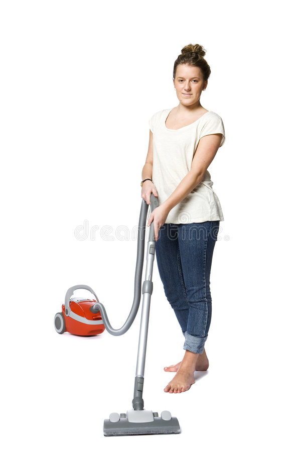 Download Woman with vacuum cleaner stock photo. Image of stewardess - 9164838