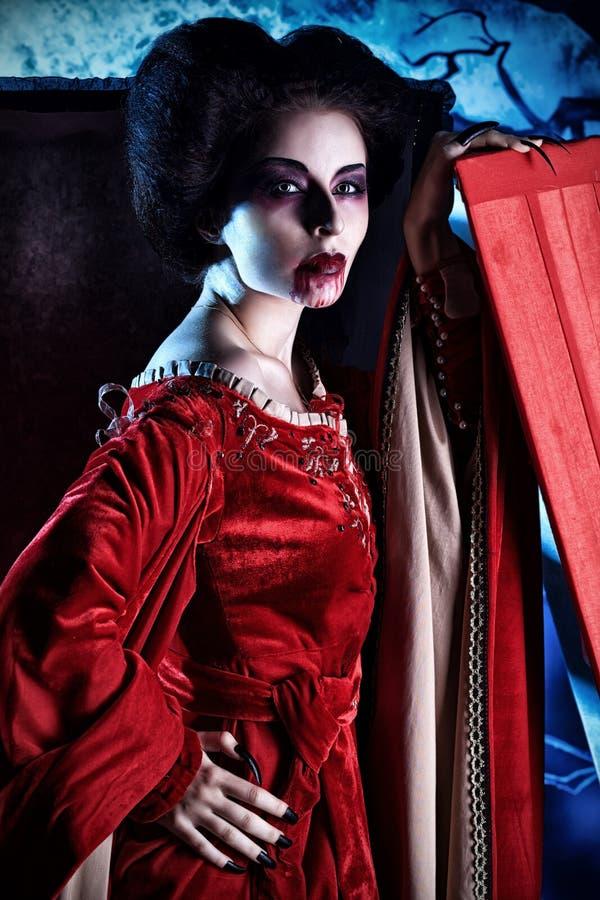 Woman vampire stock image
