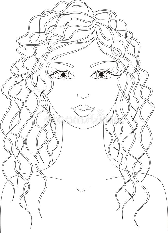 Download Woman stock vector. Image of hairstyle, nature, natural - 31740402