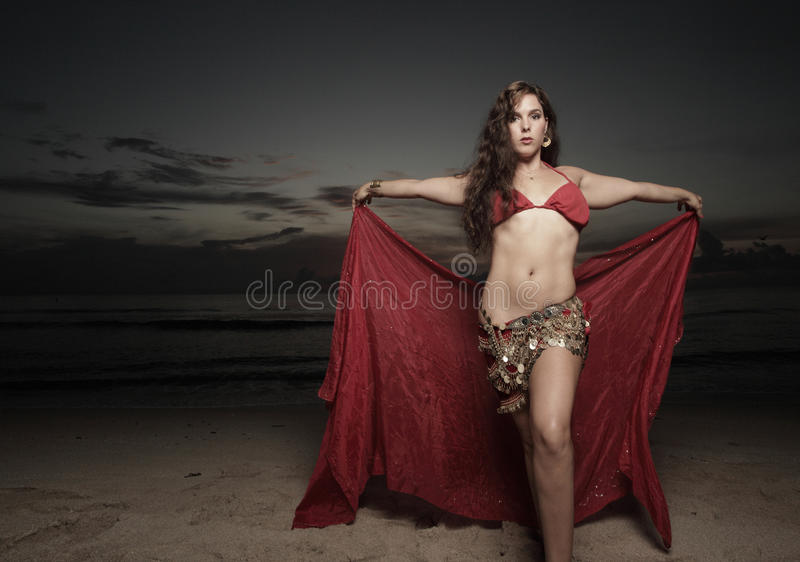 Download Woman With A Veil On The Beach Royalty Free Stock Image - Image: 11478776