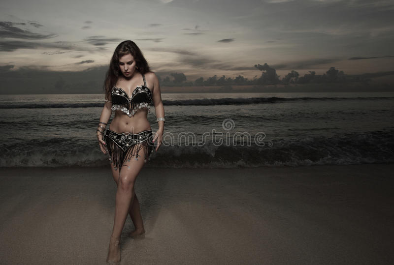Download Woman With A Veil On The Beach Royalty Free Stock Photo - Image: 11478845