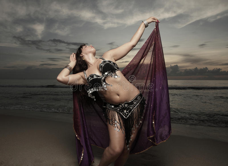 Download Woman With A Veil On The Beach Stock Photo - Image: 11478906
