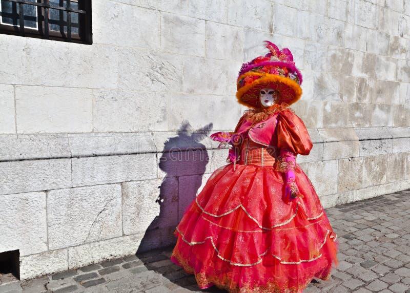 Woman in venetian costume royalty free stock photo