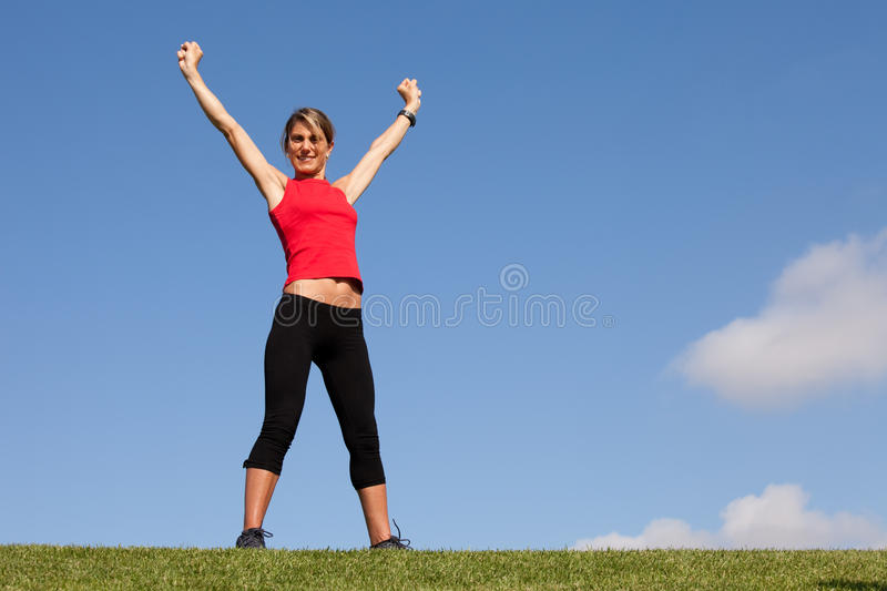 Woman victory royalty free stock image