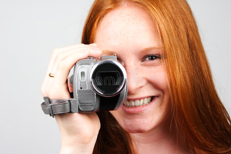 Download Woman With Video Camera Stock Photos - Image: 5261533