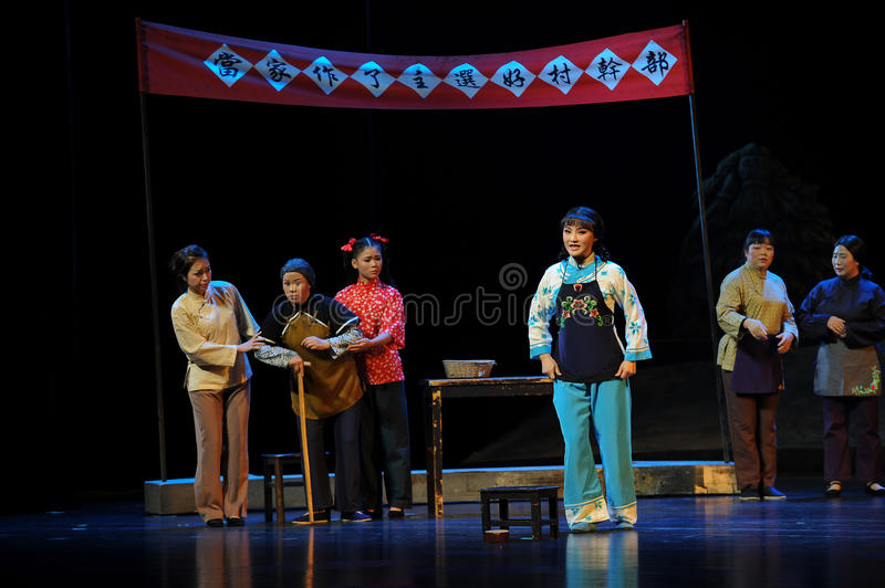 The woman in the village elections- Jiangxi opera a steelyard. Jiangxi opera a steelyard is adapted from a true story: the last century fortys, the protagonists royalty free stock photo