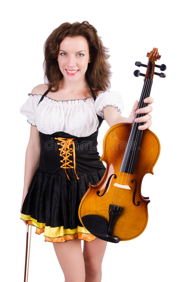 Download Woman with violin stock photo. Image of melody, music - 30346992