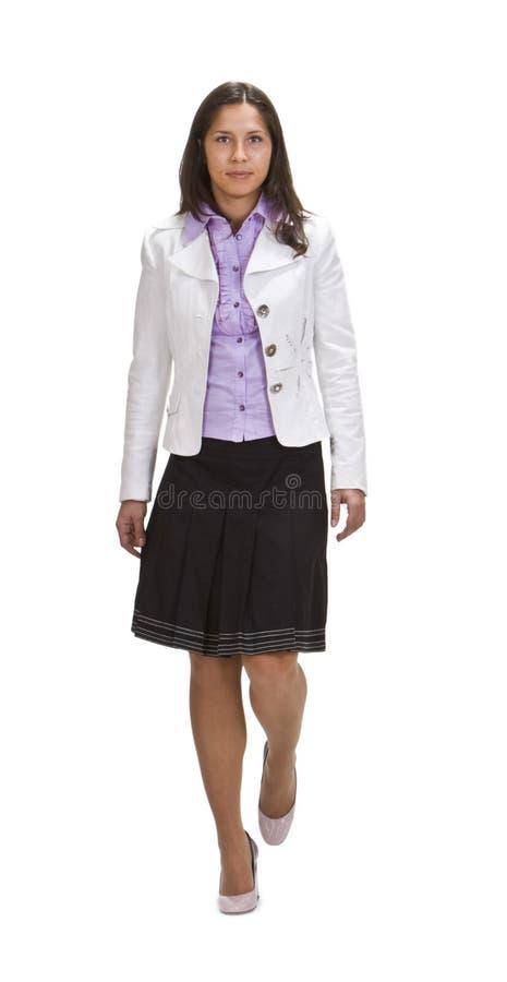 Download Woman walking stock photo. Image of brunette, walking - 11437346