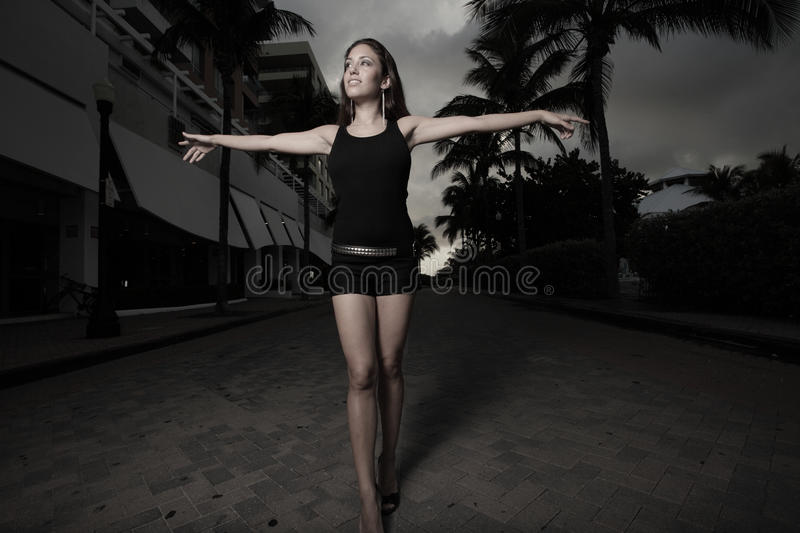 Download Woman Walking With Arms Extended Stock Photo - Image: 10643580
