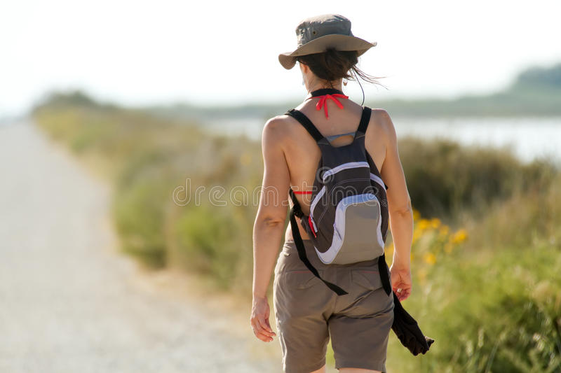 Download Woman walking in nature stock image. Image of countryside - 20978395