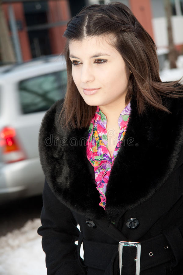 Download Woman Walking On The Street Stock Image - Image: 17641795