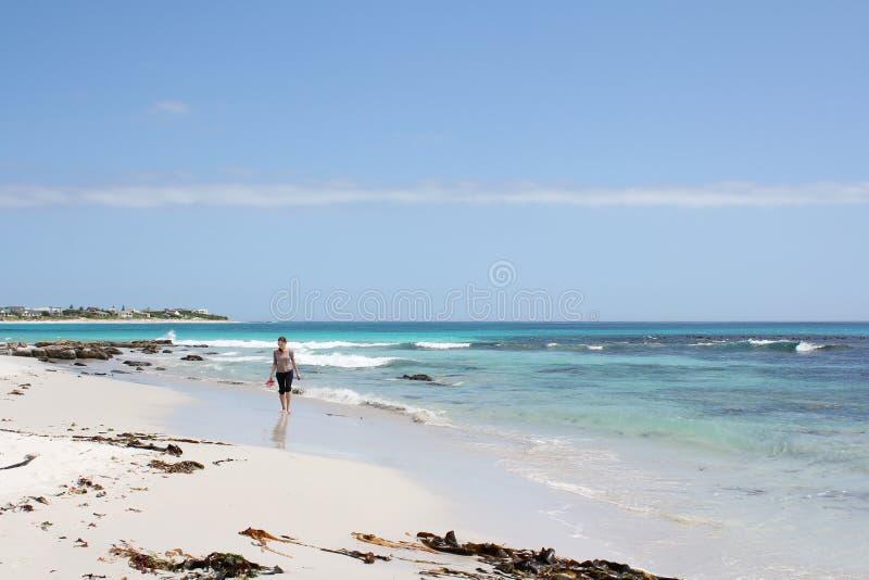 Woman walking in Water royalty free stock photos