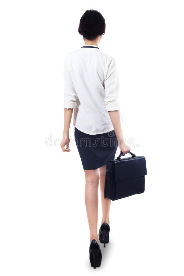 Free Woman Walking With Briefcase Royalty Free Stock Photography - 37897797