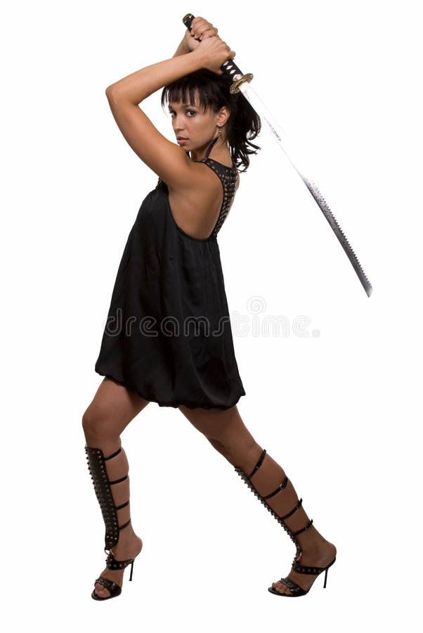 Download Woman warrior stock image. Image of samurai, modern, brunette - 7743129