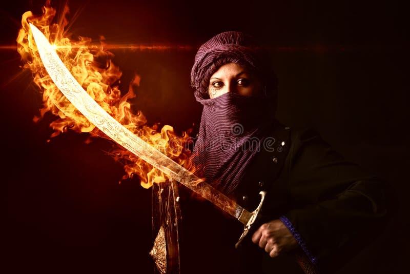 Woman warrior stock photos