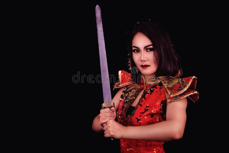 Woman warrior royalty free stock images