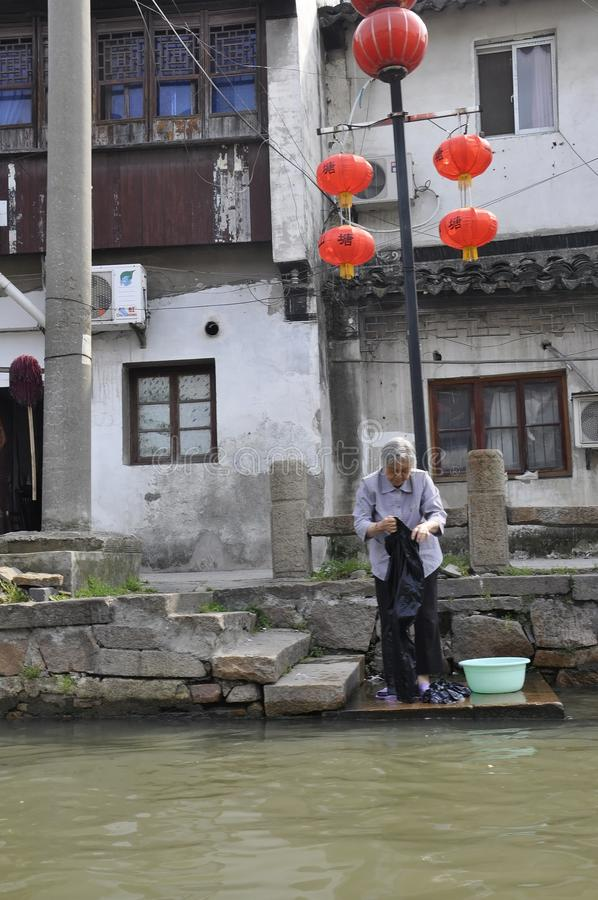 Suzhou, 4th may: The Historic still living Shantang Street or Canal from Suzhou town royalty free stock images