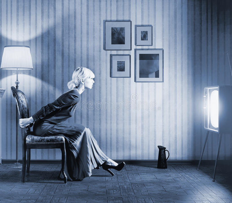 watching tv in the dark. download woman watching tv stock photography - image: 32443892 in the dark i