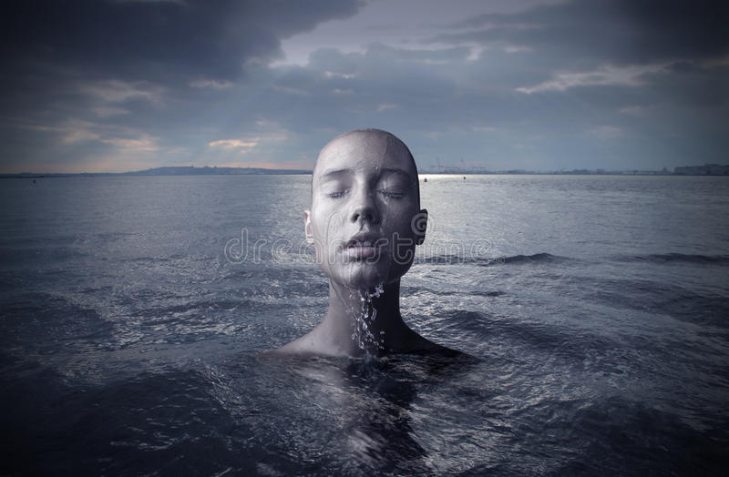 Download Woman in the water stock image. Image of liquid, emerge - 12879081