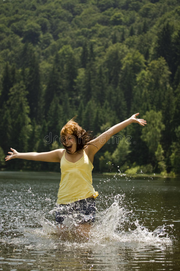 Download Woman in water stock image. Image of hair, happy, drop - 15205909