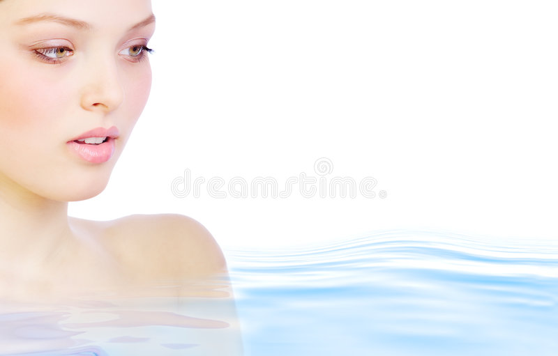 Woman in water royalty free stock photo
