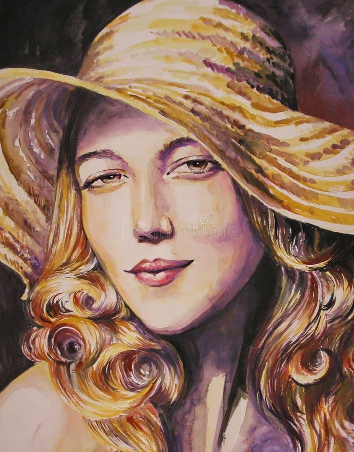Download Woman-watercolor Stock Image - Image: 14712681