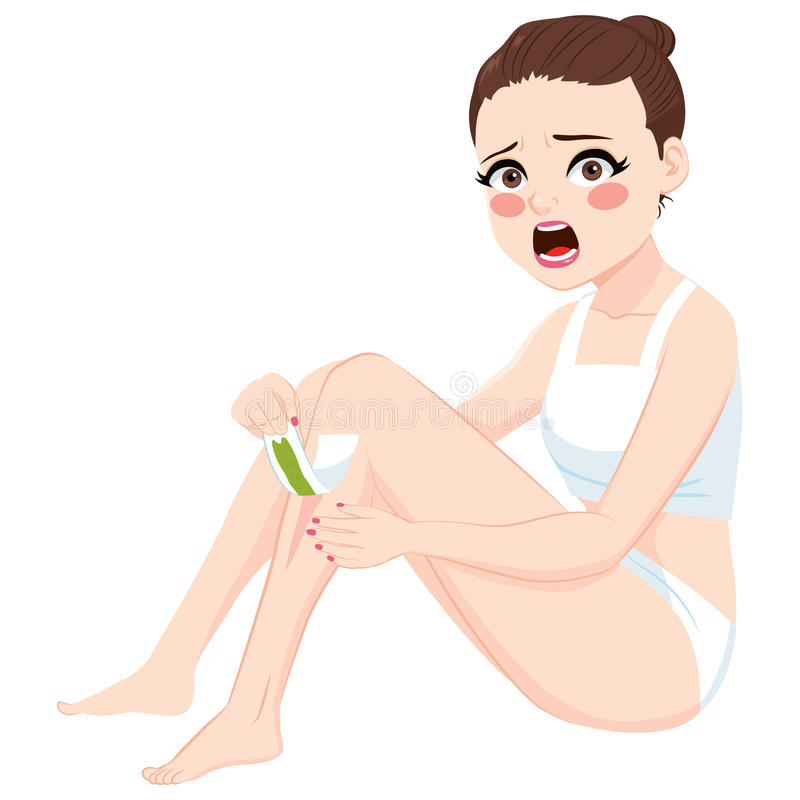 Woman Waxing Epilation vector illustration