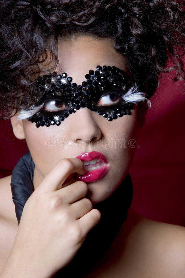 Free Woman Wearing A Gem Mask Royalty Free Stock Photos - 829888
