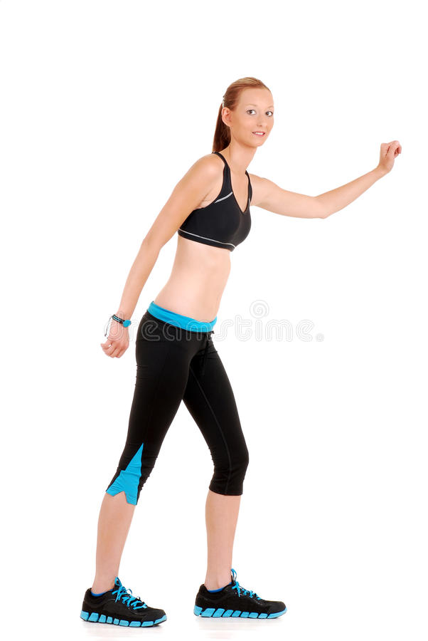 Download Woman Wearing Black Blue Zumba Fitness Outfit Stock Photo - Image: 25916386