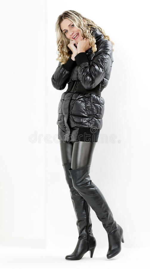 Download Woman Wearing Black Clothes Stock Photo - Image: 21288784
