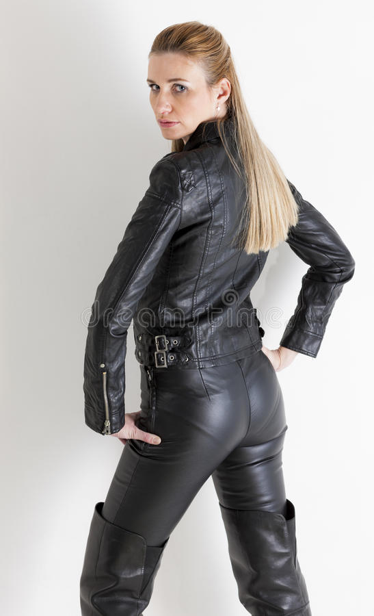 Download Woman Wearing Black Clothes Stock Image - Image: 28526593