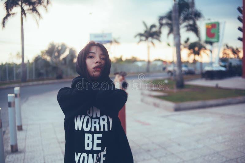 Woman Wearing Black Hoodie During Daytime Free Public Domain Cc0 Image