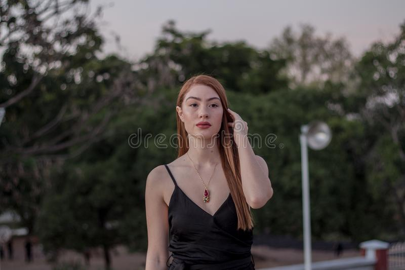 Woman Wearing Black Spaghetti Strap Top Free Public Domain Cc Image