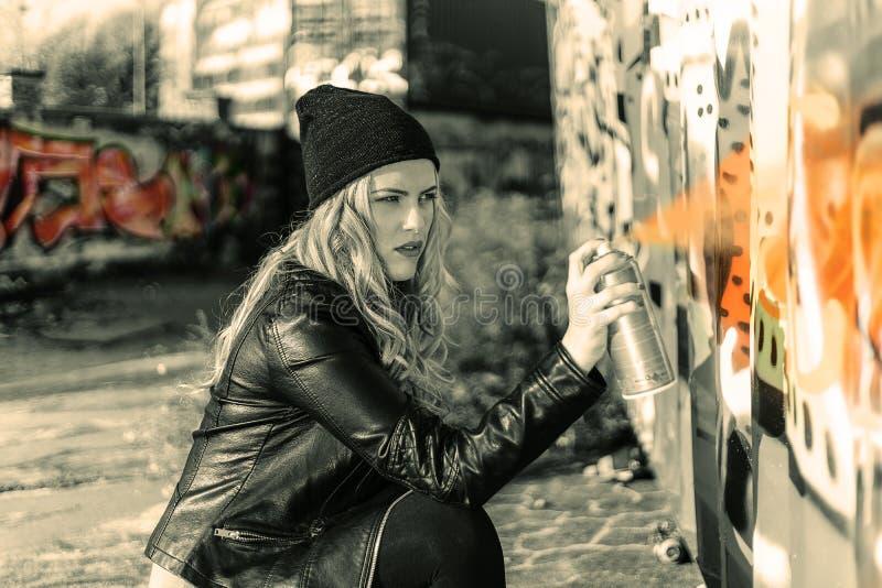 Woman Wearing a Black Suit Jacket stock photos