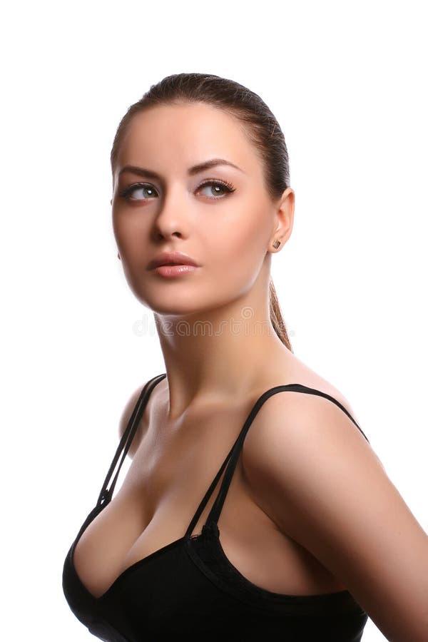Woman wearing bra royalty free stock images