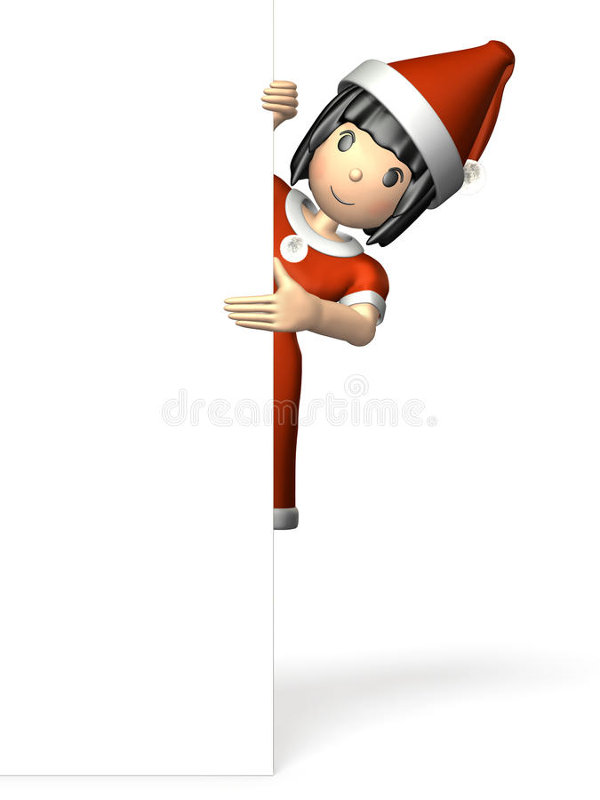 Download Woman Wearing A Christmas Costume Stock Illustration - Image: 34026550