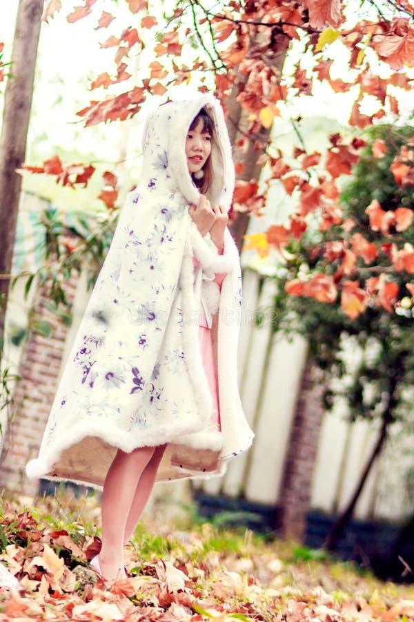 Woman Wearing Cloak royalty free stock image