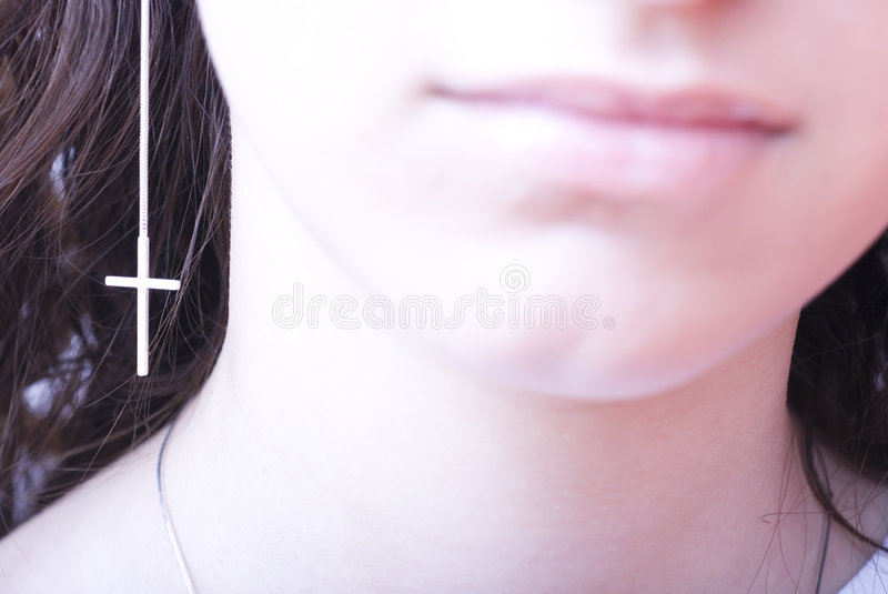 Download Woman wearing earring stock photo. Image of jewelry, accessory - 2484686