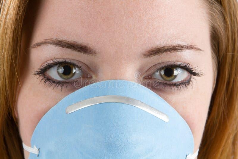 Woman Wearing Facemask royalty free stock photo