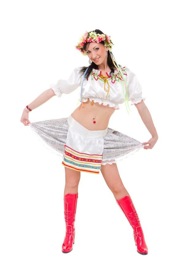 Download Woman Wearing A Folk Ukrainian Dress Stock Image - Image: 16981323