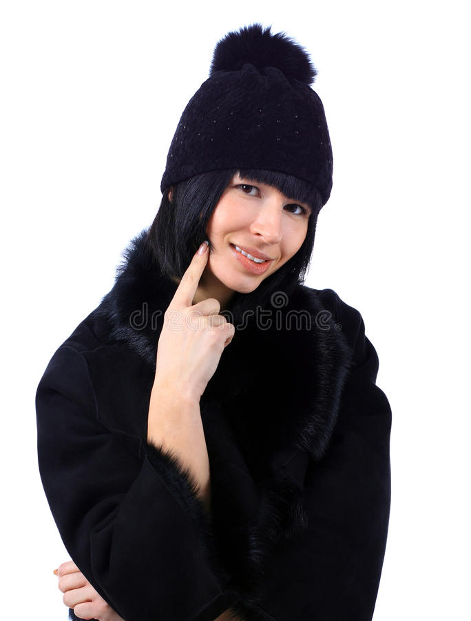 Download Woman Wearing A Fur Coat And A Hat Stock Photography - Image: 23099002
