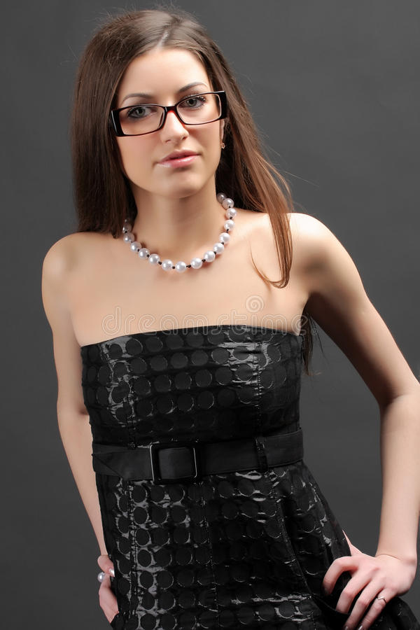 Download Woman Wearing Glasses stock photo. Image of woman, glasses - 10045156