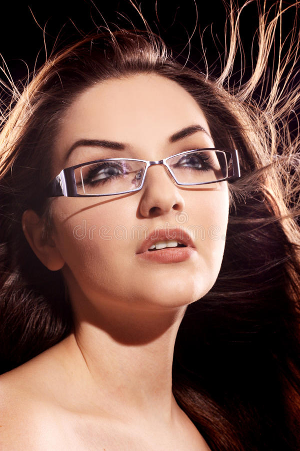 Download Woman wearing glasses stock image. Image of hair, lady - 13574401