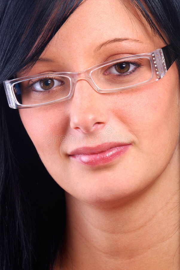 Woman Wearing Glasses stock photography