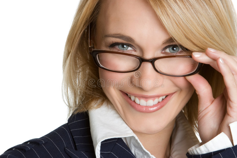 Woman Wearing Glasses stock photo
