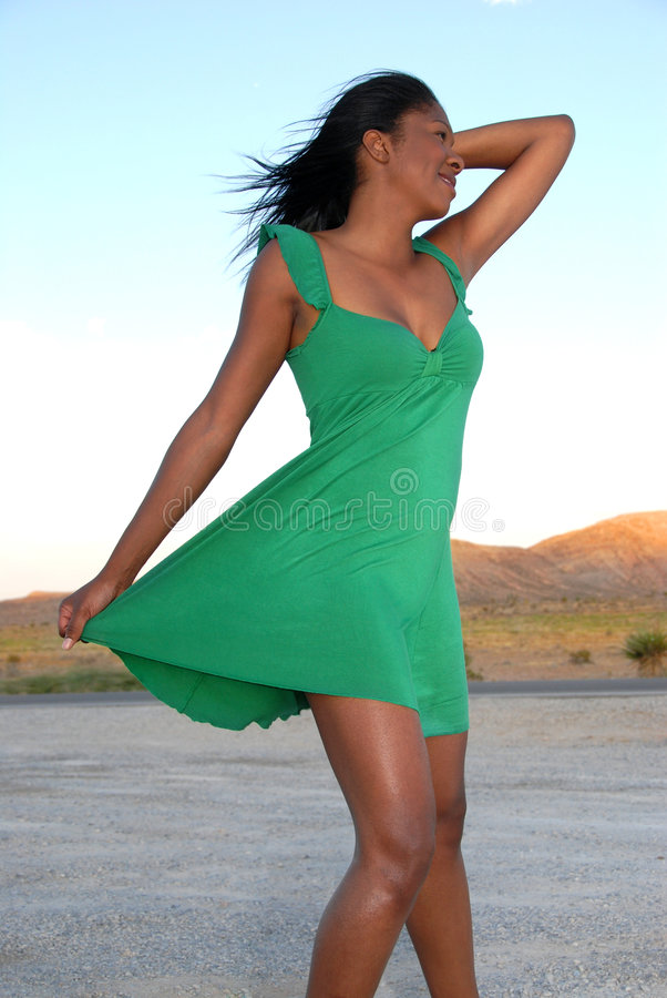 Download Woman wearing green dress. stock photo. Image of girl - 7826050